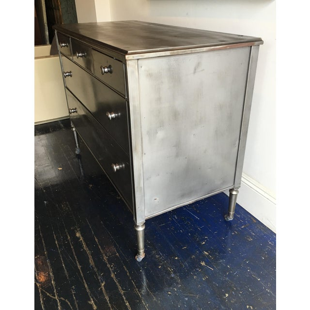 Stripped Metal Dresser - Image 3 of 7