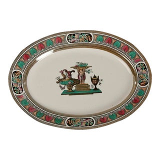 19th Century English Transfer Ware Ceramic Platter For Sale
