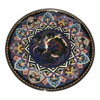 Antique Cloisonne Plate For Sale