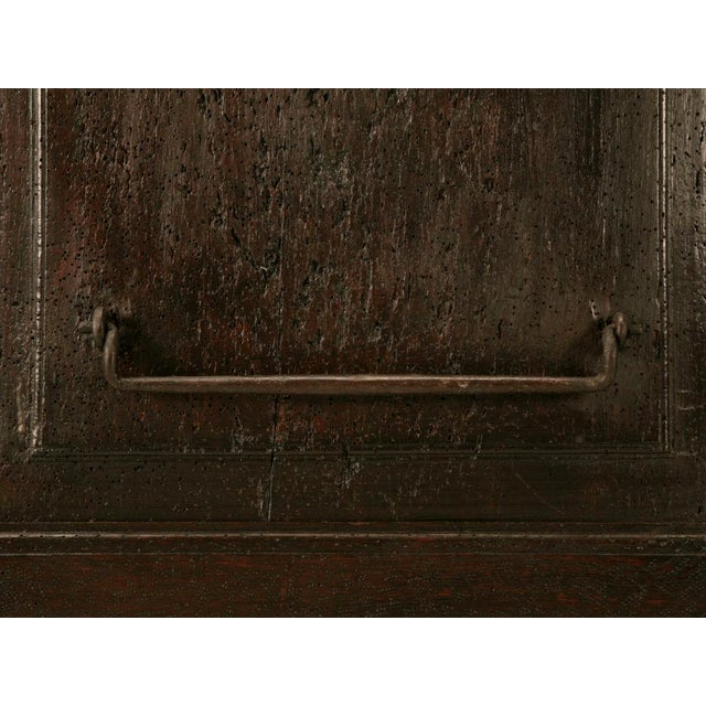 Mid 18th Century Antique French Carved Two-Panel Coffer For Sale - Image 5 of 11