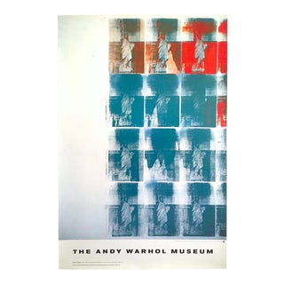 """Andy Warhol Museum Rare Lmtd Edtn Lithograph Print XL Monumental Poster """"Statue of Liberty"""" 1963"""