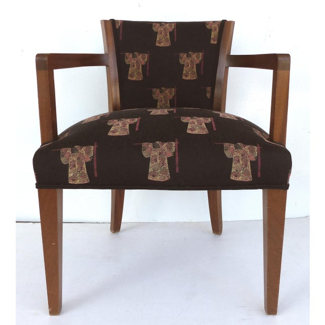 Art Deco French Art Deco Arm Chairs - A Pair For Sale - Image 3 of 11