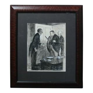 "Carl Hugo Beetz ""Gallery Back Room"" Painting For Sale"