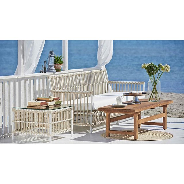 Caroline Exterior 3-Seater Sofa - Dove White - Tempotest White Canvas Seat and Back Cushions For Sale In Minneapolis - Image 6 of 10