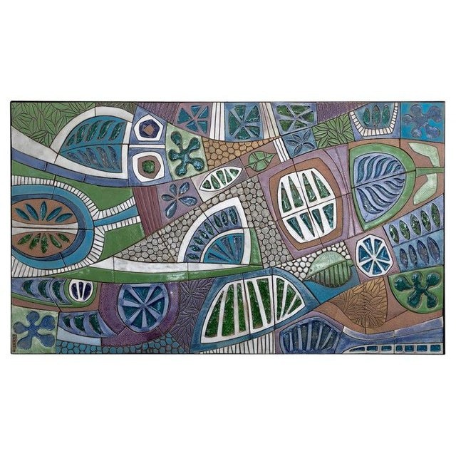 Large Studio Ceramic Wall Relief by Brent Bennett For Sale - Image 9 of 9
