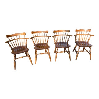 Vintage Ethan Allen Comb Back Side Chairs - Set of 4 For Sale