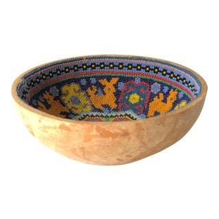 Native American Beaded Gourd Bowl