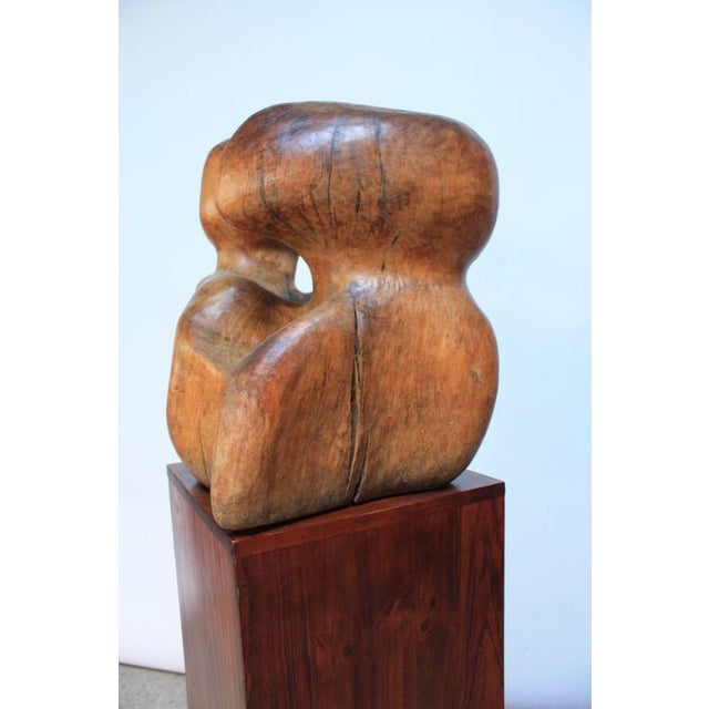 Free-Form Burl Wood 'Head' Sculpture - Image 8 of 10