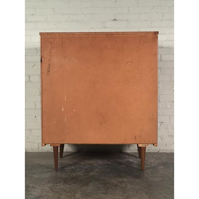 Walnut Mid-Century Four-Drawer Dresser - Image 7 of 9