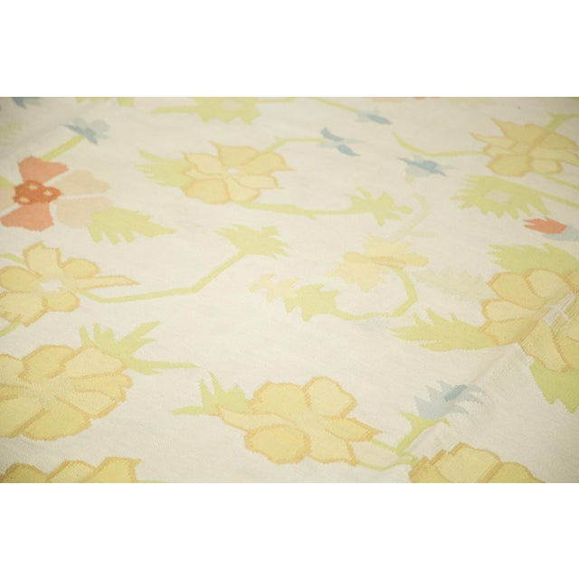 """Vintage Minimalist Dhurrie Carpet - 8'9"""" X 11'10"""" - Image 8 of 10"""