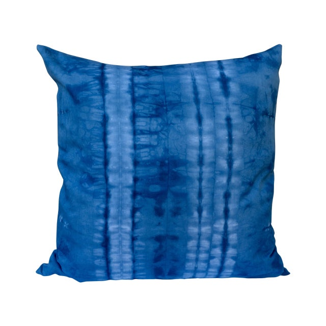 Indigo Blue Shibori Pillow - Image 1 of 5