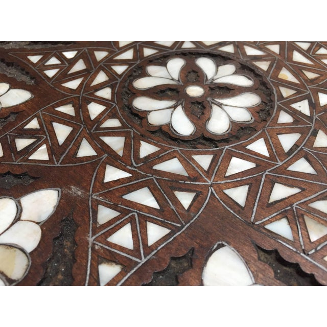 Syrian Mother-Of-Pearl Inlaid Side Table For Sale - Image 11 of 13