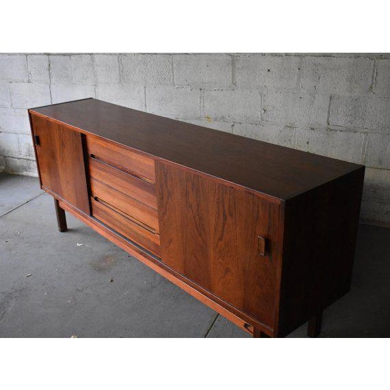 Danish Modern Mid Century Modern Rosewood Credenza by Nils Jonsson for Troeds For Sale - Image 3 of 10
