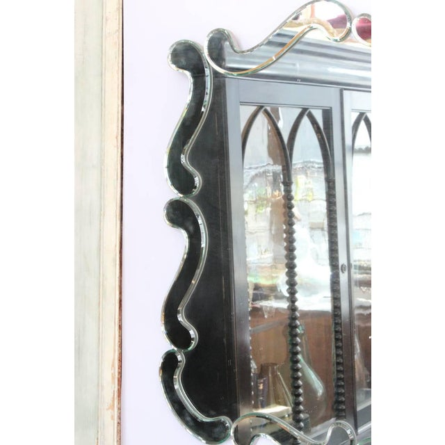 Large 1950's Venetian Style Wall Mirror For Sale - Image 4 of 12