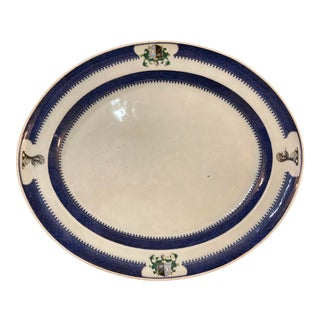Early 19th Century Chinese Export Porcelain Armorial Platter Decorated With the Arms of Oliphant Impaling Browne For Sale