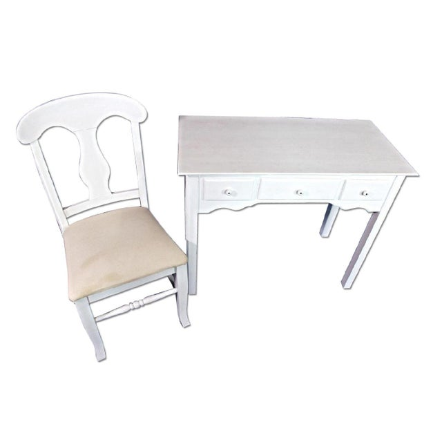 Whittier Furniture White Painted Children's Desk & Chair - Image 6 of 11
