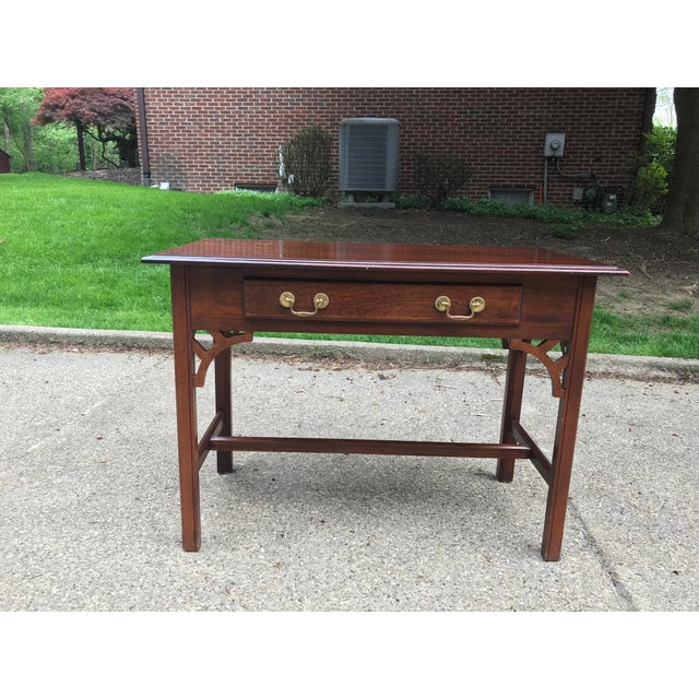 Wood Bombay Co. Chinoserie Wood Desk For Sale - Image 7 of 7