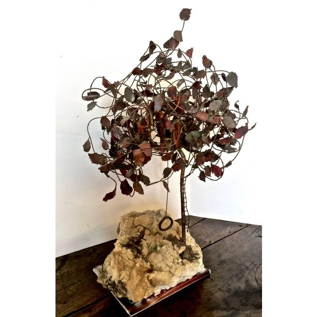 Brass Geode Brass Tree Sculpture For Sale - Image 7 of 7