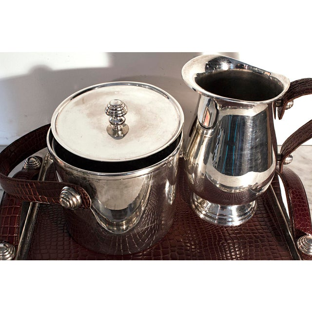 Sheffield Silver & Leather Bar Service Set - Image 7 of 8