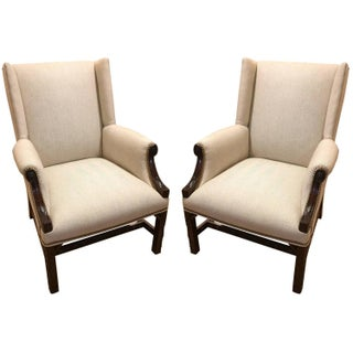 Antique 19th-Century English Armchairs - A Pair For Sale