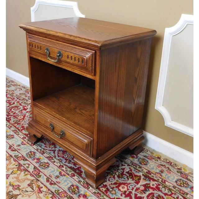 Vintage Davis Cabinet Co. Oak Nightstand For Sale - Image 5 of 6