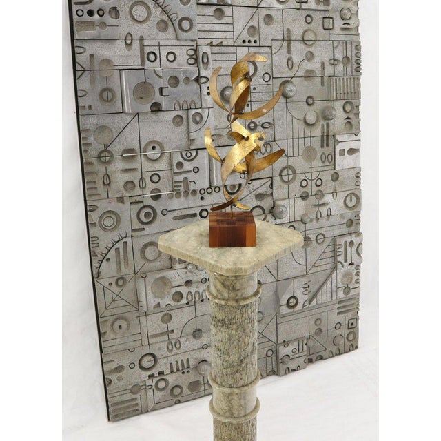 Bronze William Bowie Table Top Metal Gold Leaf Sculpture Solid Wood Block Base For Sale - Image 8 of 13