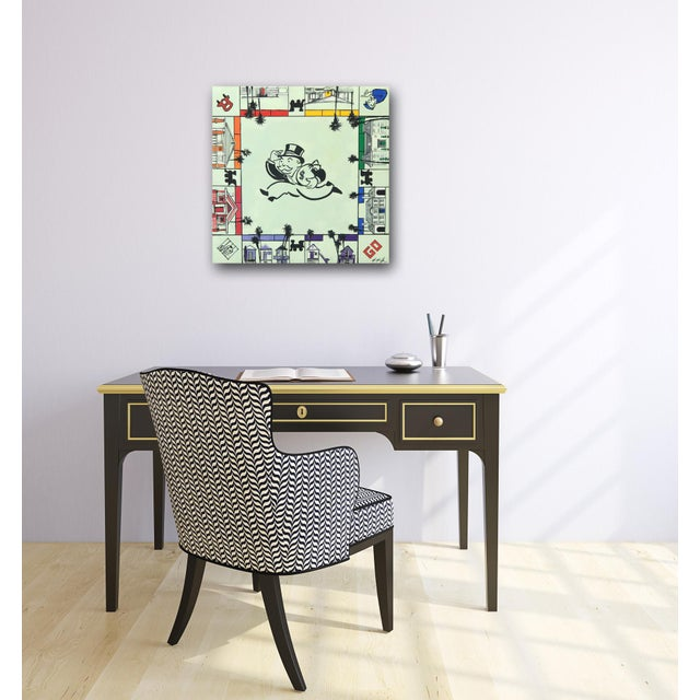 """Kathleen Keifer """"Uncle Pennybags Real Estate"""" Contemporary Painting For Sale - Image 9 of 9"""