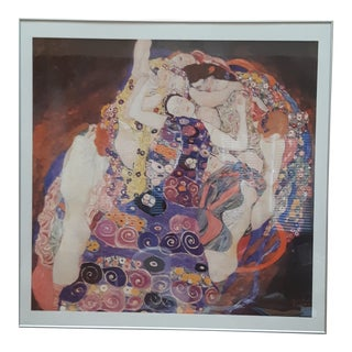 Vintage Gustav Klimt Abstract Framed Print For Sale
