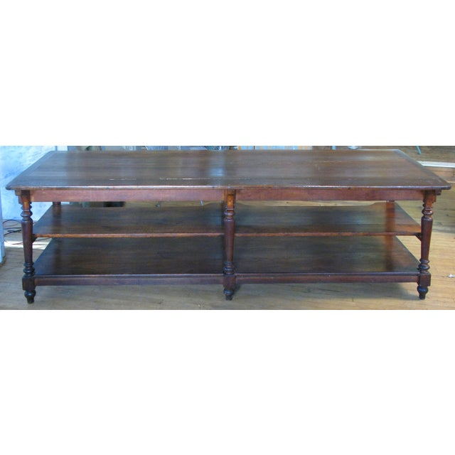 Antique 1940s Three Shelf Mercantile Table For Sale In New York - Image 6 of 8