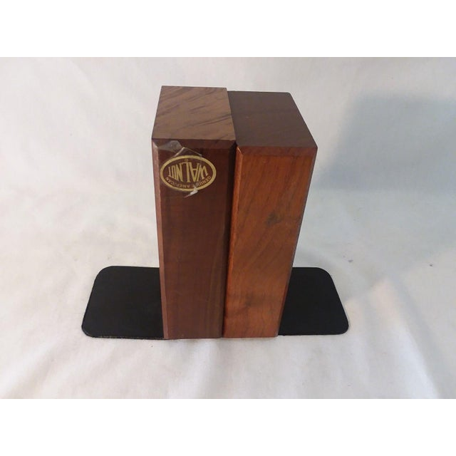 1970s Mid-Century Modern Carved Walnut Ship Bookends - a Pair For Sale In Los Angeles - Image 6 of 8