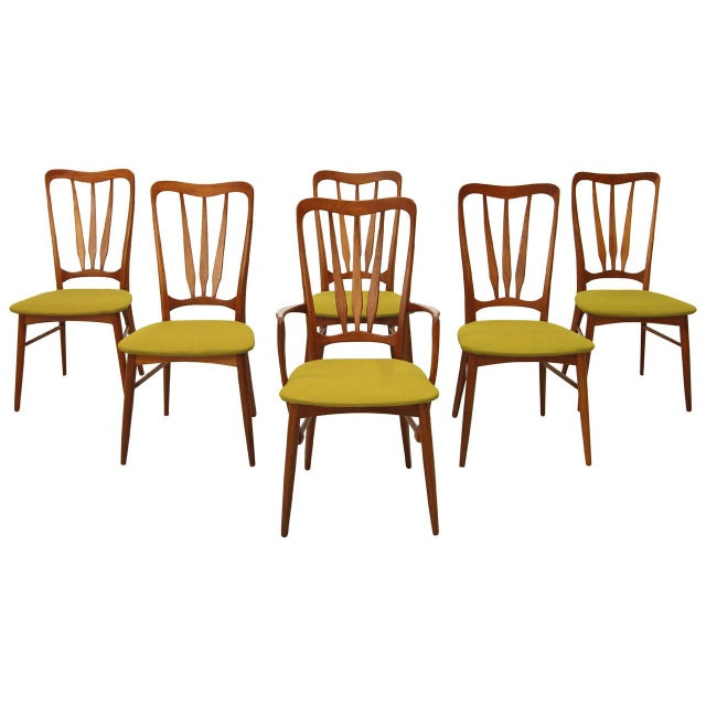 Danish Teak Koefoed Hornslet Dining Chairs -Set 6 - Image 1 of 8