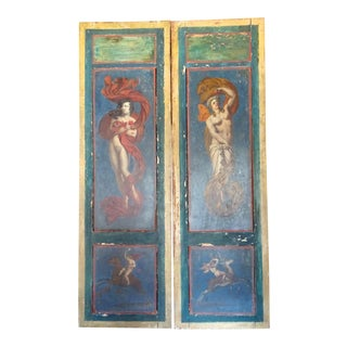 19th Century Italian Panels-a Pair For Sale