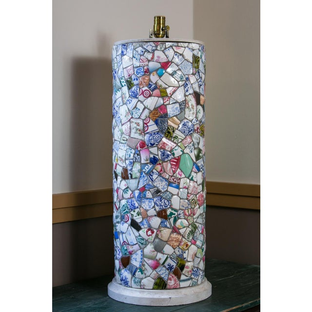Tall Charming Mosaic Lamp For Sale In Houston - Image 6 of 6