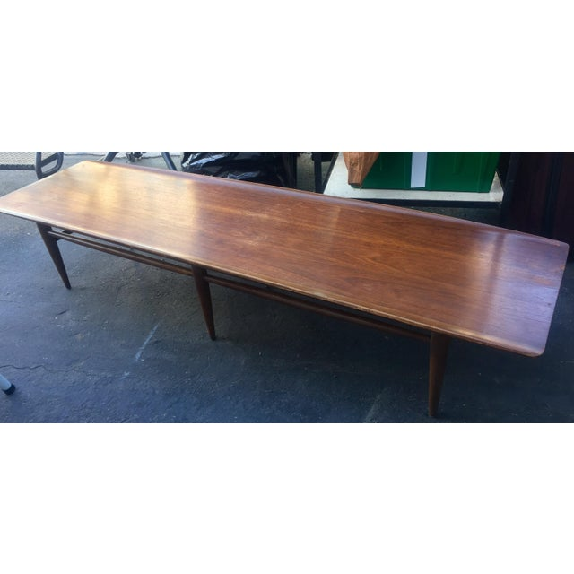 Vintage Bassett Walnut Surfboard Coffee Table