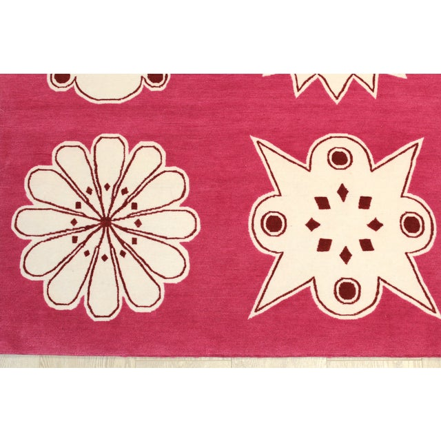 "Contemporary Madeline Weinrib Pink ""Medina"" Rug - 4' x 6' For Sale - Image 3 of 9"