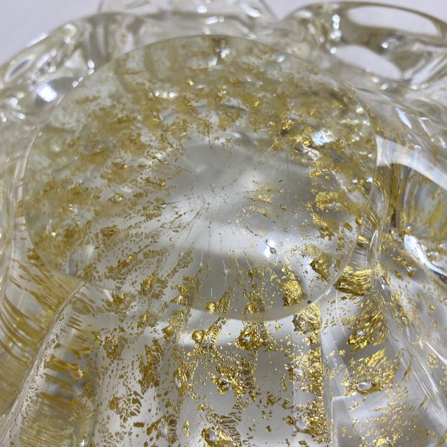 Murano Gold Fleck Glass Bowl For Sale In Richmond - Image 6 of 9