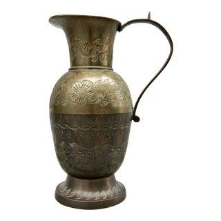Etched Brass Bronze Pitcher