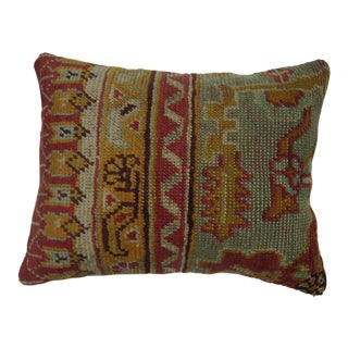 Turkish Oushak Rug Pillow For Sale