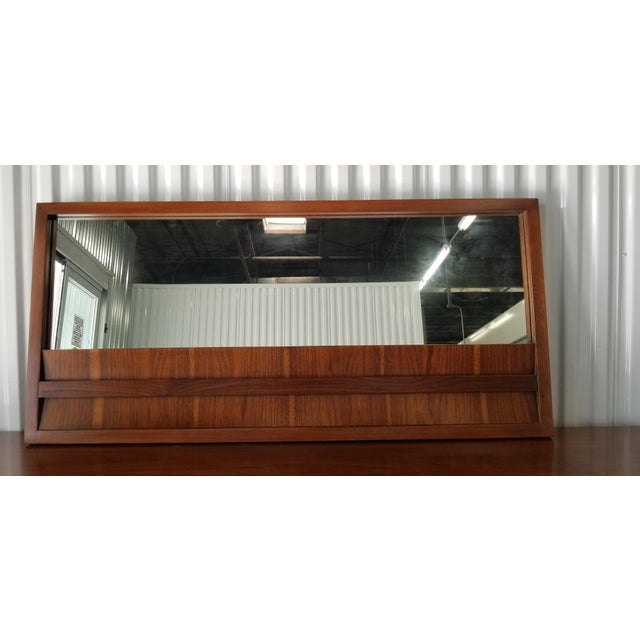 Black 1970s Brutalist Lane Credenza/Long Chest of Drawers with Mirror For Sale - Image 8 of 13