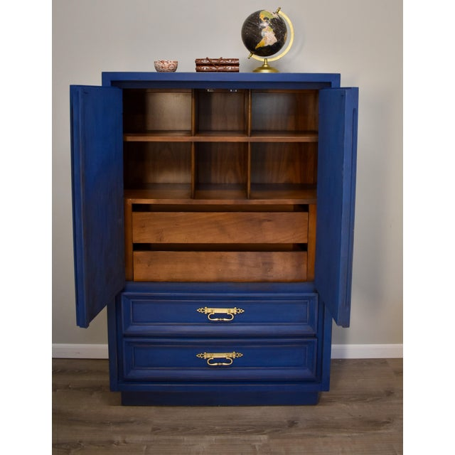 Blue Mid-Century Gentleman's Chest - Image 4 of 11