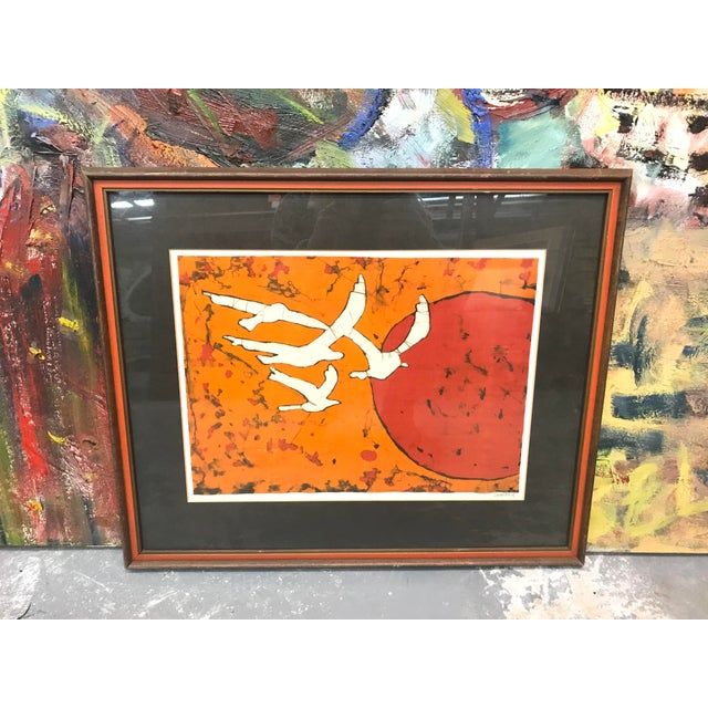 Abstract Late 20th Century Abstract Bird Lithograph Print For Sale - Image 3 of 5