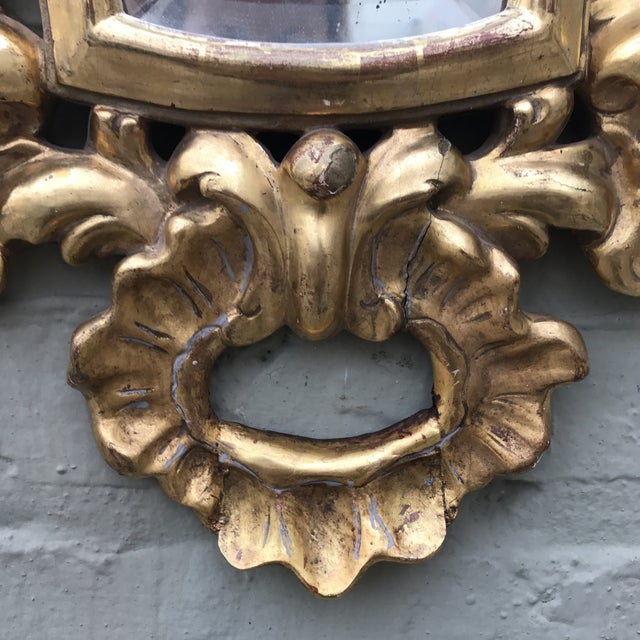 Italian Gilt Wood Mirror For Sale - Image 5 of 7