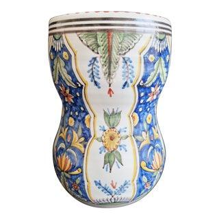 1960s Vintage Delft Ceramic Vase For Sale