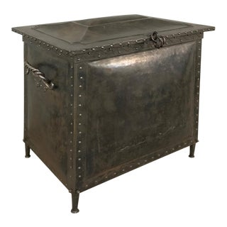 Antique Steel Trunk ~ Box For Sale