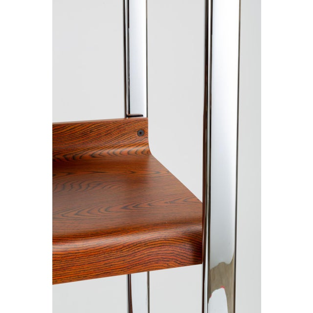 Zebrawood and Chrome Bookshelf by Peter Protzmann for Herman Miller For Sale - Image 12 of 13