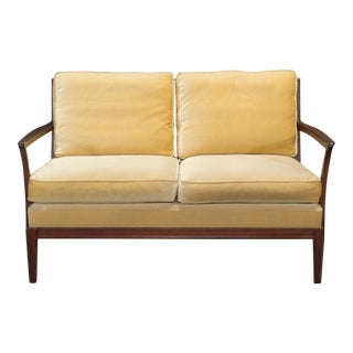 1950s Vintage Danish Modern Loveseat Settee For Sale