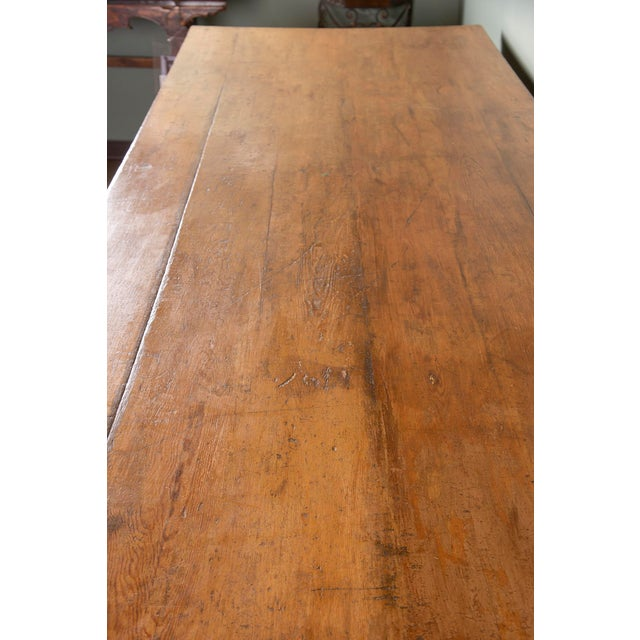 Pine Large 19th Century French Pine Drapers Table With Original Finish For Sale - Image 7 of 13