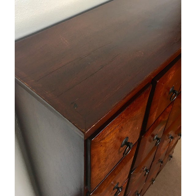 Vintage Mahogany Apothecary 20 Drawer Cabinet For Sale In Chicago - Image 6 of 11