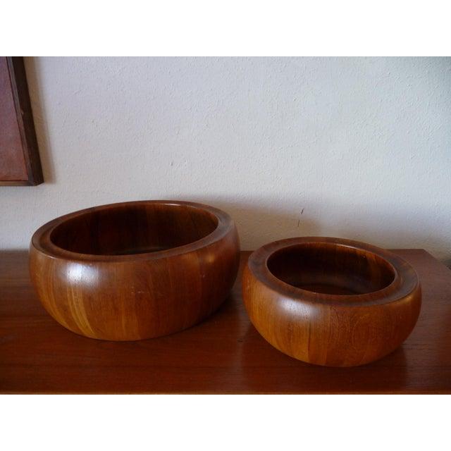 1960s Danish Modern Digsmed Teak Bowls - a Pair For Sale - Image 10 of 10