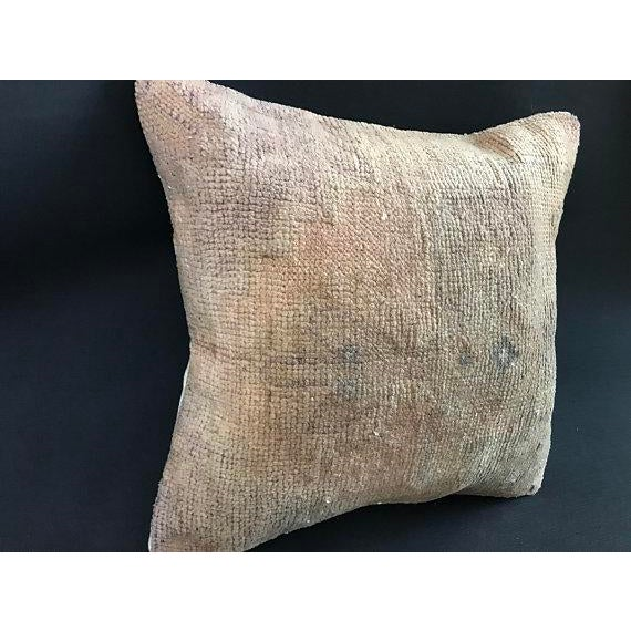 Abstract 1960s Art Nouveau Handwoven Oushak Wool Pillow Case For Sale - Image 3 of 10